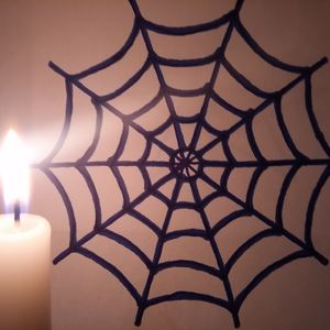 #Candle & Blue Spiderweb