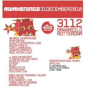 Philogresz @ Awakenings NYE 2010-2011 , Rotterdam Maassilo