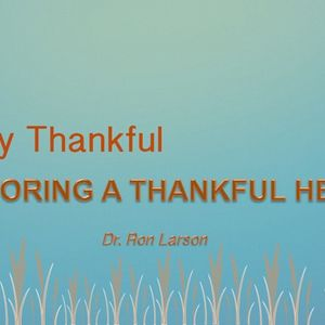 Restoring A Thankful Heart
