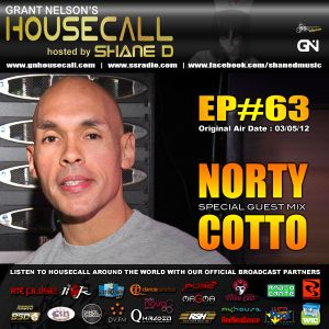 Housecall EP#63 (03/05/12) incl. a guest mix from Norty Cotto