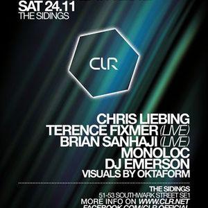 Chris Liebing @ CLR Warehouse Party,The Sidings Club (London) (24.11.12)