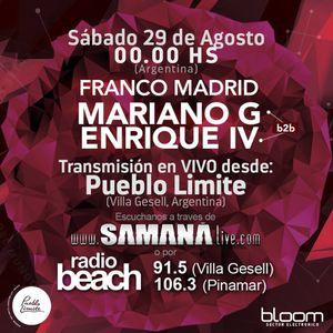 Franco Madrid - Mariano G & Enrique IV Bloom Pueblo Limite 29-08-2015