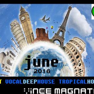 BEST VOCAL DEEP HOUSE - TROPICAL HOUSE / JUNE 2016 MIX by VINCE MAGNATA