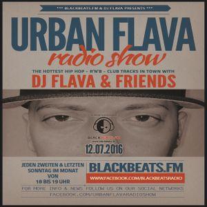 DJ FLAVA - URBAN FLAVA RADIO SHOW - 12.07.2016