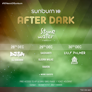 """""""Raven"""" Dj set at Sunburn after party at Stone water on 29/12/16"""