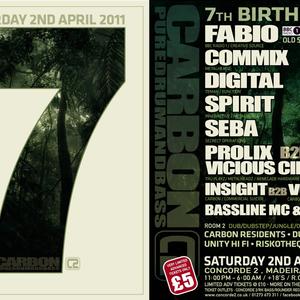 Commix - LIVE @ Carbons 7th Birthday - Concorde II - Brighton