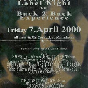 Bad Company + MC's Riddla & Navigator live @ True Playaz Label Night B2B Experience 2000 - Mannheim
