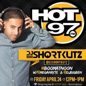 DJ SHORTKUTZ LIVE ON HOT 97 BOOM @ NOON