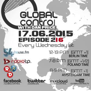 Dan Price - Global Control Episode 216 (17.06.15)