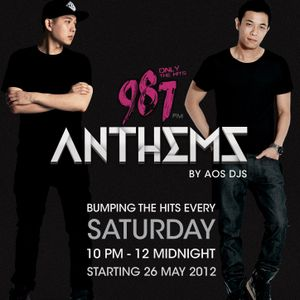 DJ Andrew T 1st Set of 987 Anthems with AOS DJs 30 June 2012