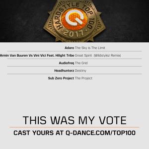 Q-Dance Hardstyle Top 100 - 2017 (My Votes)