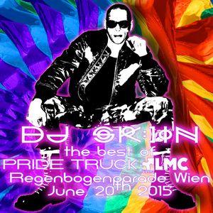 Rainbowmix DJ SK:)IN Pridetruck LMC Vienna CSD Parade June 20th 2015