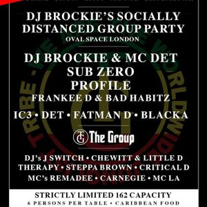 Frankee D B2B Bad Habitz w/ MC LA & Remadee - DJ Brockie's Group Party - Oval Space - 24.10.2020
