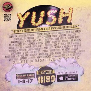 New Chat #190 Yush! DJ Pete Bodega  on NiceUpRadio.com 1-11-17