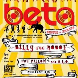 BILLY THE ROBOT-CAT PILLOW BDAY LIVE MIX 2/5/2011