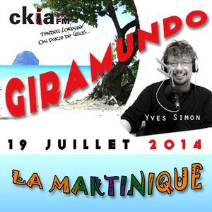 Giramundo - la Martinique en musique et en récits de voyage avec Yves Simon (19 juillet 2014)