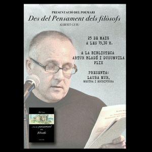 """""""Des del pensament dels filòsofs"""", nou llibre d'Albert Guiu Bagés."""
