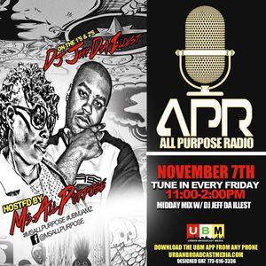 ALL PURPOSE RADIO MIDDAY MIX 11-7-14 90S MIX!!!!!!!!