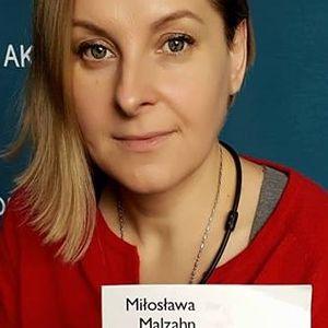 """Miłka Malzahn opowiada o swojej książce pt.: """"W płaszczu świata""""."""