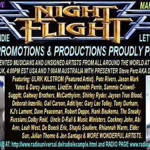 The Nightflight Radio Show from  7th March 2014 with DJ McScotty aka Steve Perz