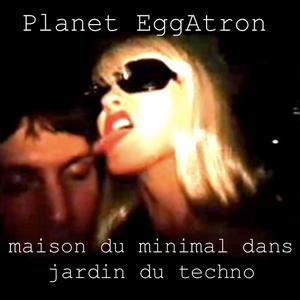 Planet EggAtron - maison du minimal dans jardin du techno