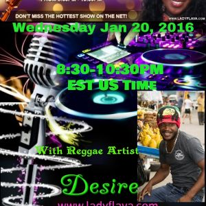 Desire Nominee for Best Male Reggae Singer of the 2016 Lady Flava Radio Award Show