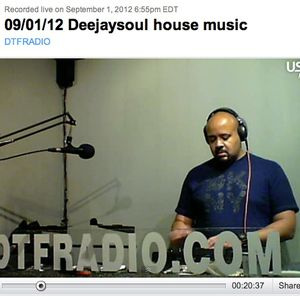 09/01/12, deejaysoul- Live on DTFradio.com, Deep House Mix