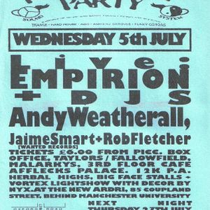 Empirion live at Herbal Tea Party in Manchester 5th July 1995