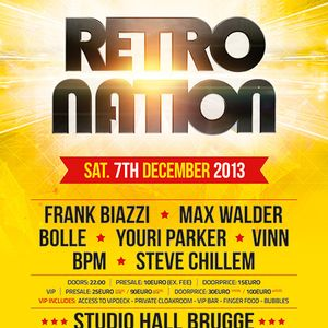 dj bolle vs bpm - retro nation (studio hall brugge) 07/12/2013