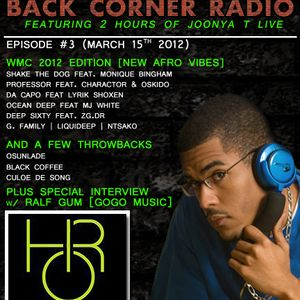 BACK CORNER RADIO: Episode #3 (March 15th 2012)