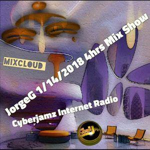 1/14/2018 Curious Jorge G Show 4hr Mix-set via Cyberjamz Internet Radio