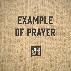 7. Example of Prayer