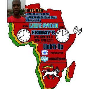 """#RADIORAHEEMSHOW #AFRIKANREGGAEDANCEHALL WITH """"RAS RAH"""""""