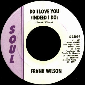 A Tribute to the music of Frank Wilson
