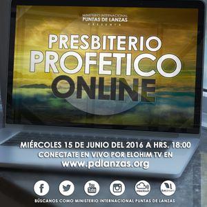 PRESBITERIO PROFETICO ONLINE - 15/16/16