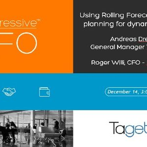 Using rolling forecasts and simplified planning for dynamic controlling