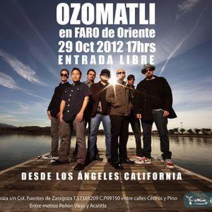Radio Faro 90.1 fm entrevista a OZOMATLI en el Faro de Oriente el día 29 de Octubre 2012!!
