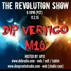 M16 LIVE ON THE REVOLUTION SHOW -  DNBRADIO.COM 1-10-2015   Live from Los Angeles
