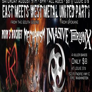 Thrash Zone LIVE at Louie G's with Mechanism. Invasive, Thirion X, Mom's Rocket