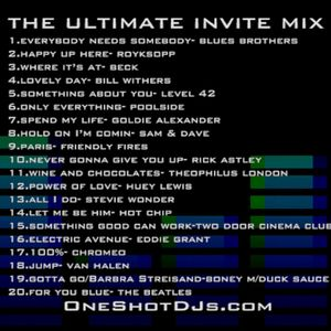 DJ ONE SHOT ® ULTIMATE INVITE MIX