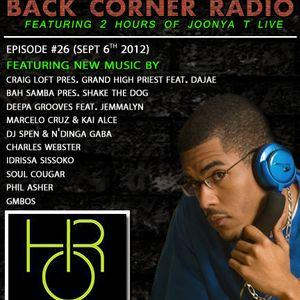 BACK CORNER RADIO: Episode #26 (Sept 6th 2012)