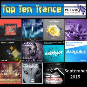 Top Ten Trance September 2015