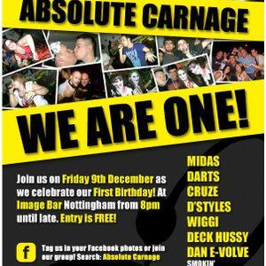 Darts & MC Nova - live at Absolute Carnage - 09/12/11
