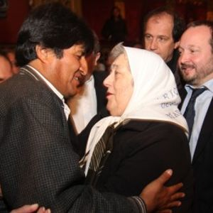 Bloque 2: Evo Morales en un acto de la CTA