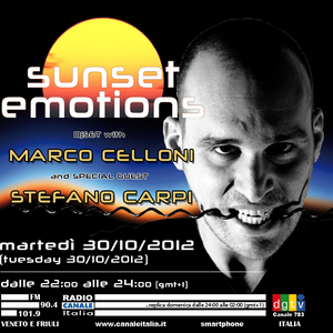 SUNSET EMOTIONS 007.3 Special Guest STEFANO CARPI (30/10/2012)