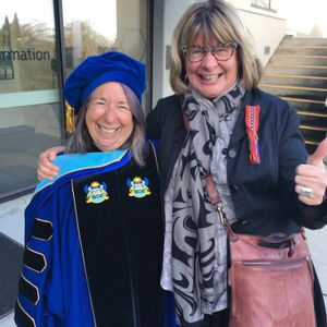 """V.I. University 's Chancellor, her excellency Louise Mandell,  at VIU's Shq'apthut  """"Lunch & Learn"""""""