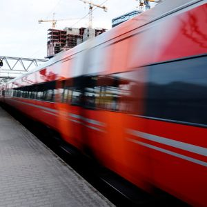 Morgen toget til Hokksund 6:17 am