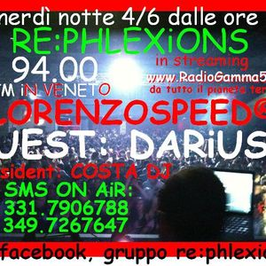 LORENZOSPEED presents RePhLeXiOnS Venerdi 04 Giugno 2010 with DARiUSH and COSTA DJ mini podcast