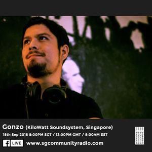 SGCR Radio Show #81 - 18.09.2018 Episode ft. Gonzo (KiloWatt Soundsystem)