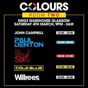 Cold Blue Live @ Colours @ SWG3 Warehouse, Glasgow, Scotland 04-03-2017